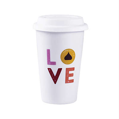 "Hershey's by Fitz and Floyd® Hugs and KISSES 12 oz. ""Love"" KISS Travel Mug"