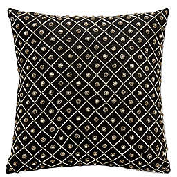 Mina Victory Luminescence Bridal Diamonds Square Throw Pillow Collection
