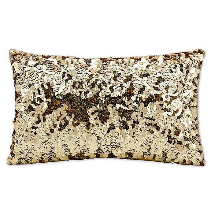Alternate image 1 for Michael Amini Circle Sequin Rectangular Throw Pillow