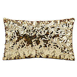 Michael Amini Circle Sequin Rectangular Throw Pillow
