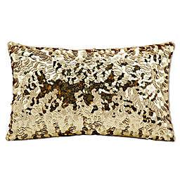 Michael Amini Circle Sequin Rectangular Throw Pillow