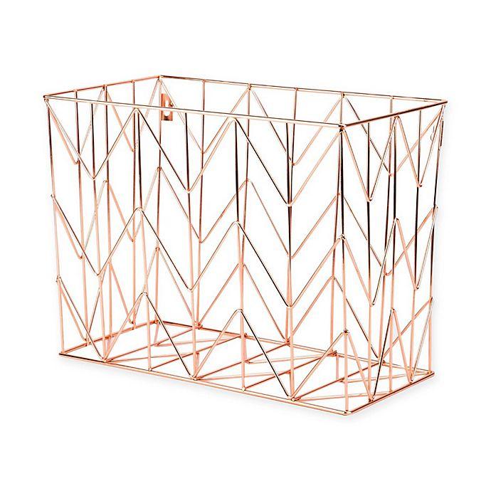 Alternate image 1 for Copper Wire Hanging File Basket