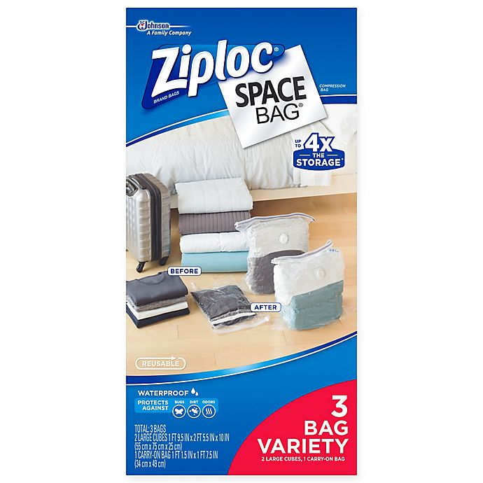 Alternate image 1 for Ziploc® Space Bag® 3-Piece Variety Travel Set