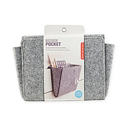 Kikkerland® Bedside Felt Storage Pocket in Grey