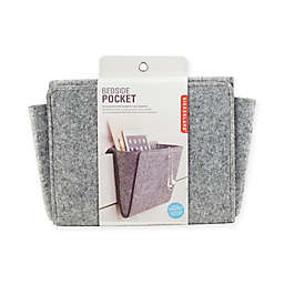 Bedside Felt Storage Pocket in Grey