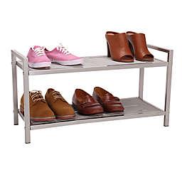 Household Essentials® 2-Tier Mesh Shoe Rack in Nickel