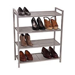 Household Essentials® 4-Tier Mesh Shoe Rack in Nickel