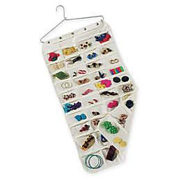 Household Essentials® Premium 80-Pocket Canvas Jewelry Organizer in Natural