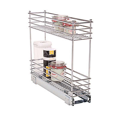 Household Essentials® Glidez Narrow 5-inch Sliding Organizer in Chrome