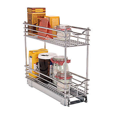 Household Essentials® Glidez Narrow 7-inch Sliding Organizer in Chrome