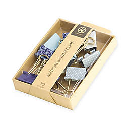 10-Count Medium Binder Clips in Blue
