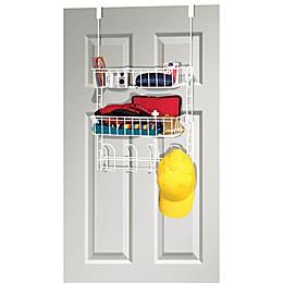 Grayline Over-the-Closet-Door Steel Organizer in White