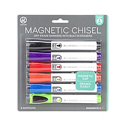 Magnetic Dry Erase Marker with Eraser 6ct