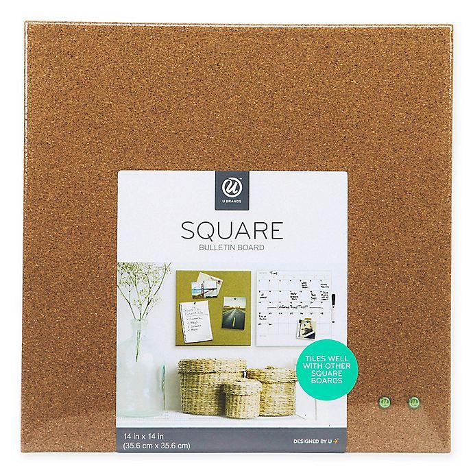 Alternate image 1 for 14-Inch Square Cork Bulletin Board