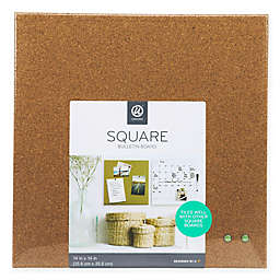 14-Inch Square Cork Bulletin Board