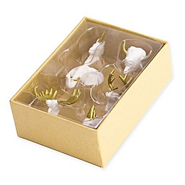 6-Count Animal Head Push Pins in White and Gold