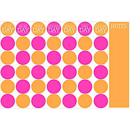 WallPops!® Dry-Erase Monthly Calendar in Multicolored Dots with Dry-Erase Marker