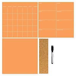 WallPops!® Dry-Erase 3-Piece Calendar/Weekly Planner/Notes Set in Tangerine