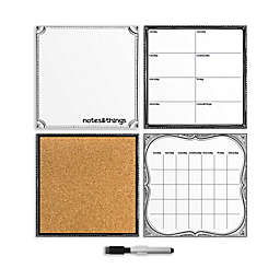 WallPops!® Dry-Erase Calendar/Weekly Planner/Notes Board/Cork Board Organizer Set in White