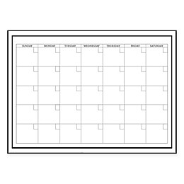WallPops!® Dry-Erase Monthly Calendar in White with Dry-Erase Marker