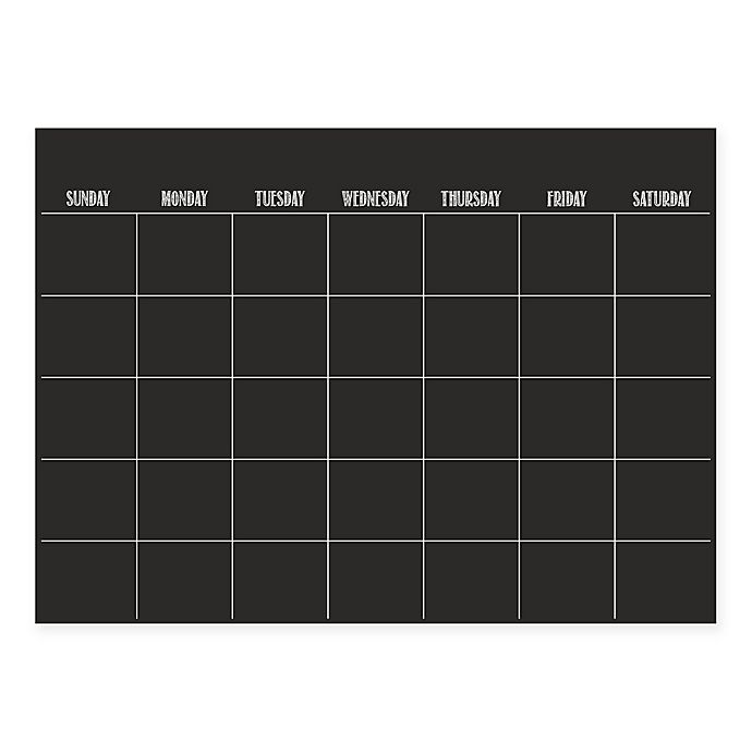 Alternate image 1 for WallPops!® Dry-Erase Monthly Calendar in Black with Dry-Erase Marker