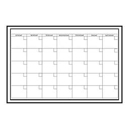 WallPops!® Dry-Erase Large Monthly Calendar in White with Dry-Erase Marker