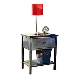 Hillsdale Urban Quarters Nightstand in Black/Cherry