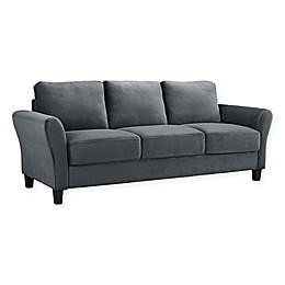 Viola Microfiber Sofa in Dark Grey