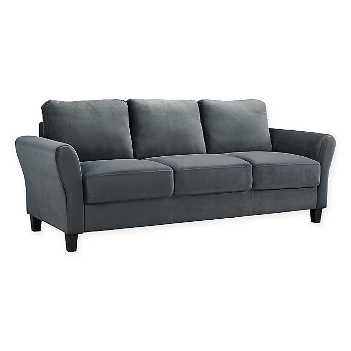 Alternate image 1 for Viola Microfiber Sofa in Dark Grey