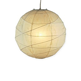 Adesso Orb 1-Light Pendant with Natural Paper Shade