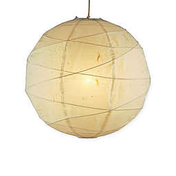 Adesso Medium Orb 1-Light Pendant with Natural Paper Shade