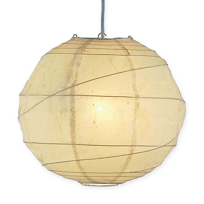Alternate image 1 for Adesso Large Orb 1-Light Pendant with Natural Paper Shade