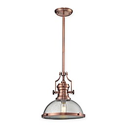 Elk Lighting Chadwick 1-Light Pendant with Clear Glass Shade