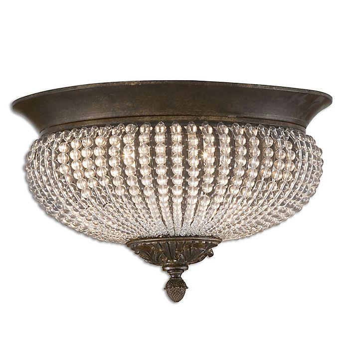 Alternate image 1 for Uttermost Cristal de Lisbon 2-Light Flush Mount Ceiling Fixture in Gold