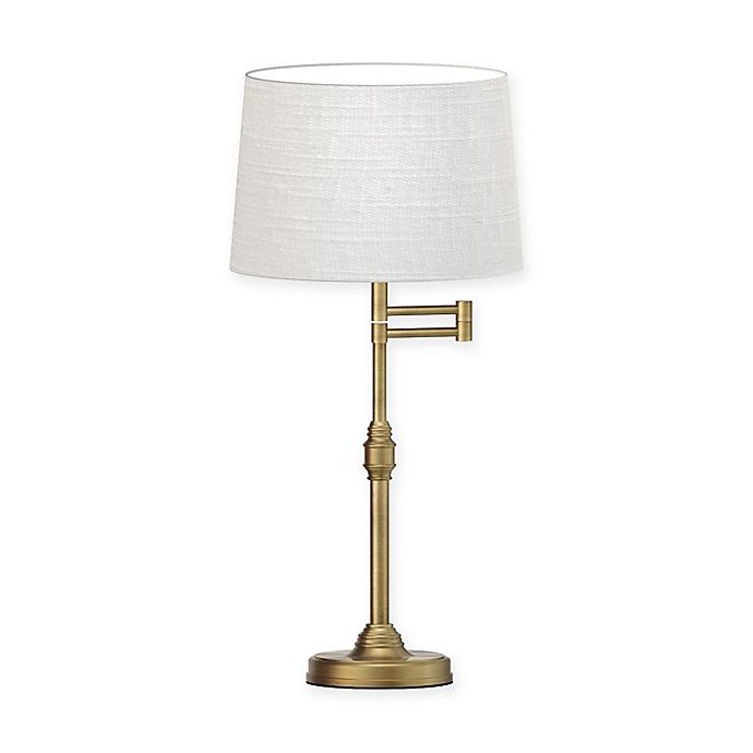 Alternate image 1 for Adesso® Julian Swing Arm Table Lamp with Fabric Shade