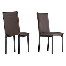 iNSPIRE Q® Colby Metal Side Chairs with Faux Leather Upholstery (Set of 2)