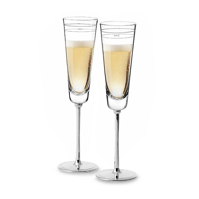 Alternate image 1 for kate spade new york Darling Point™ Toasting Flutes (Set of 2)