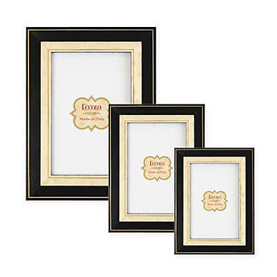 Eccolo™ Gold-Bordered Onlay Frame in Black