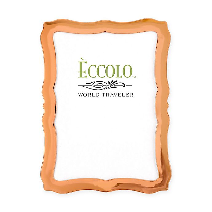 Alternate image 1 for Eccolo® 5-Inch x 7-Inch Copper-Plated Scalloped Frame