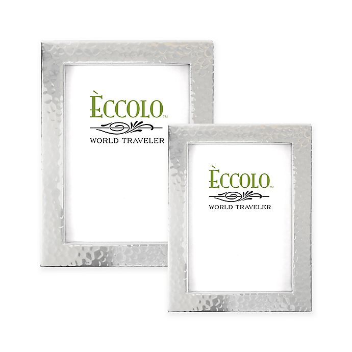 Alternate image 1 for Eccolo® Hammered Silver-Plated Box Frame