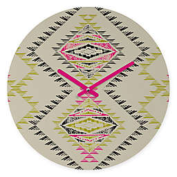 DENY Designs Pattern State Marker South Round Wall Clock