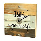 Sweet Bird & Co.  Be Yourself  Reclaimed Wooden Clock in Blue Whisper Finish
