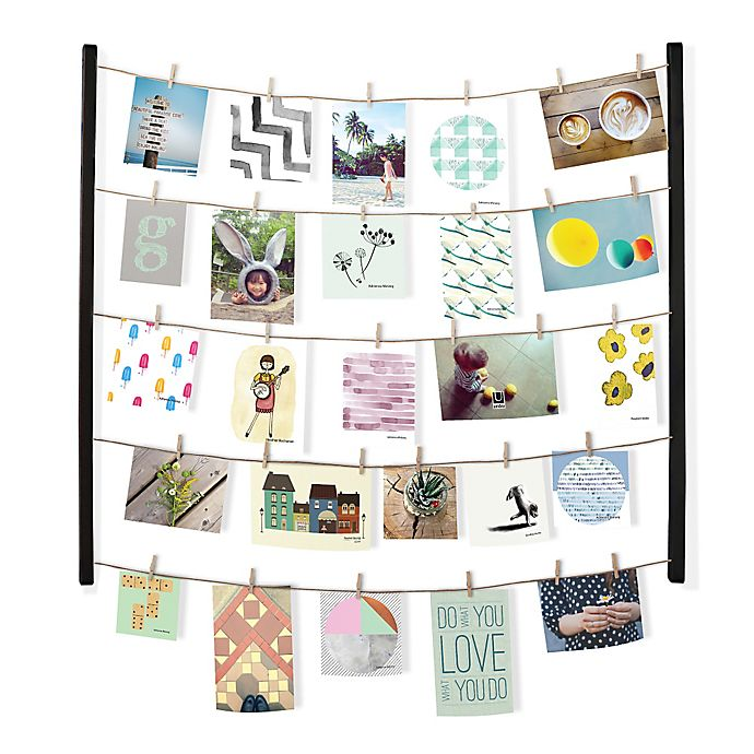 Umbra Hangit 40-Photo 30-Inch by 26-inch Wooden Clip Frame in Black ...