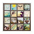 Umbar Gridart 16-Photo 4-Inch x 4-Inch Wooden Collage Frame in Walnut