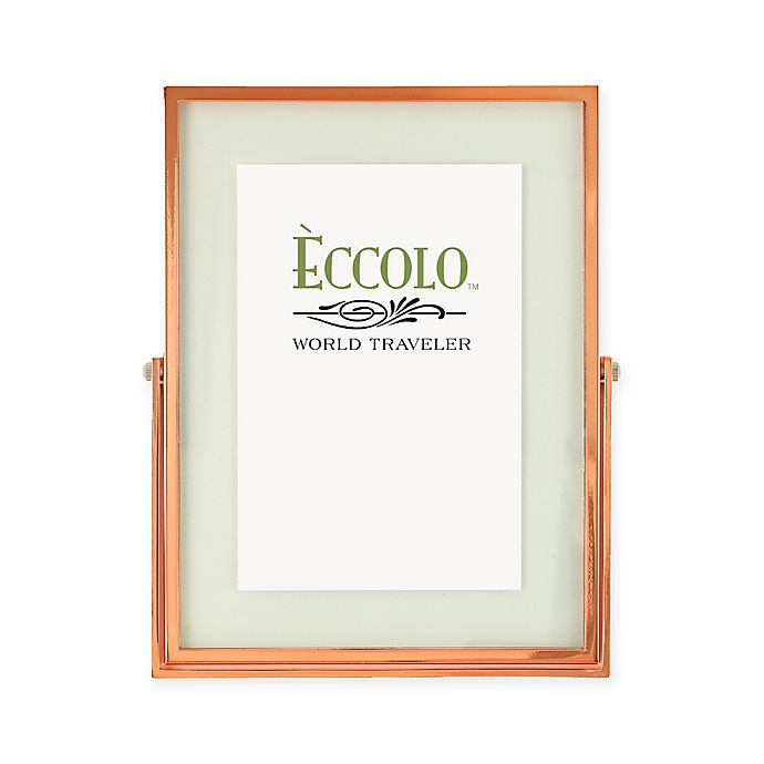 Alternate image 1 for Eccolo™ 4-Inch x 6-Inch Floating Glass Picture Frame in Copper
