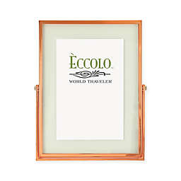 Eccolo™ 4-Inch x 6-Inch Floating Glass Picture Frame in Copper