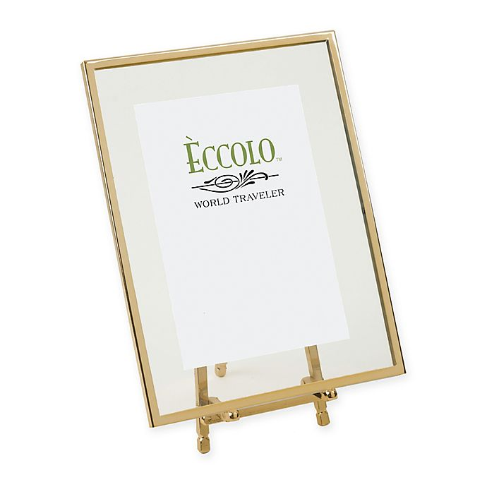 Alternate image 1 for Eccolo® 4-Inch x 6-Inch Gold-Framed Floating Easel