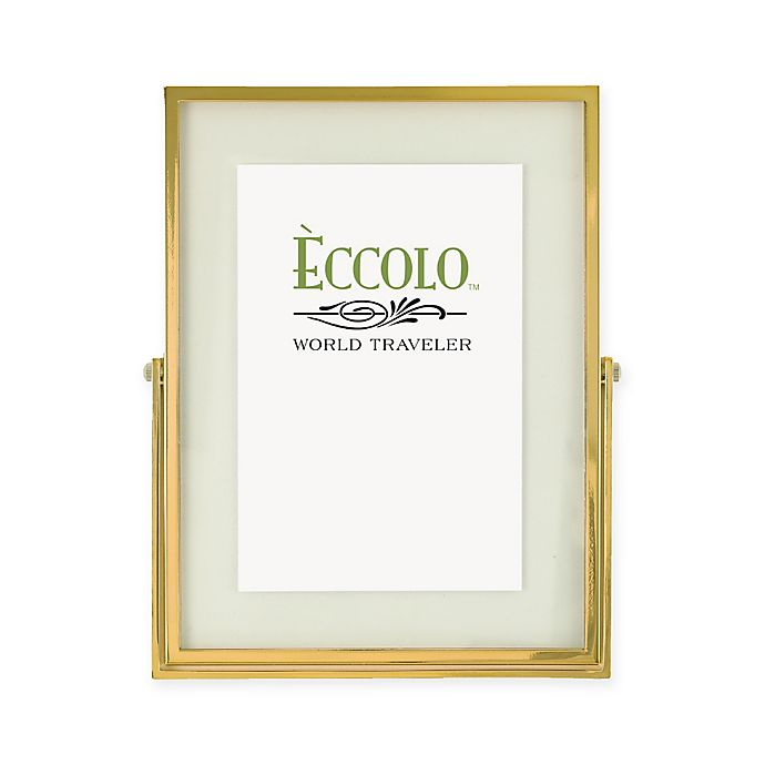 Eccolo 4-Inch x 6-Inch Gold Floating Glass Frame | Bed Bath & Beyond