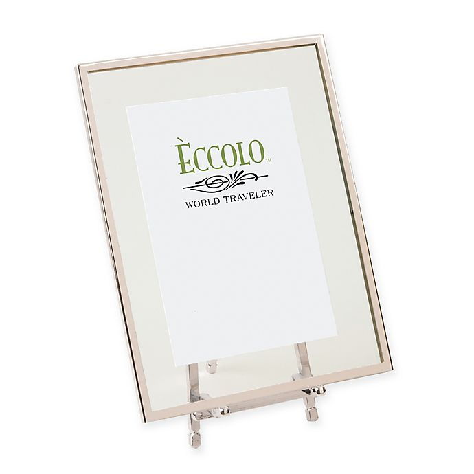 Alternate image 1 for Eccolo® 4-Inch x 6-Inch Silver-Framed Floating Easel