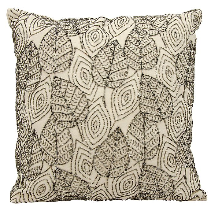 Alternate image 1 for Michael Amini Leaves Square Throw Pillow